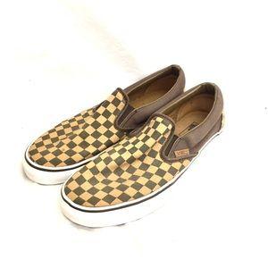 Vans Brown & Tan Checker Size 11